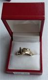 9ct White Polo Mallet Ring