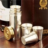Set of Eight Stirrup Shot Cups & Cartridge Holder