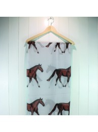 Scarf Horse - Light Grey