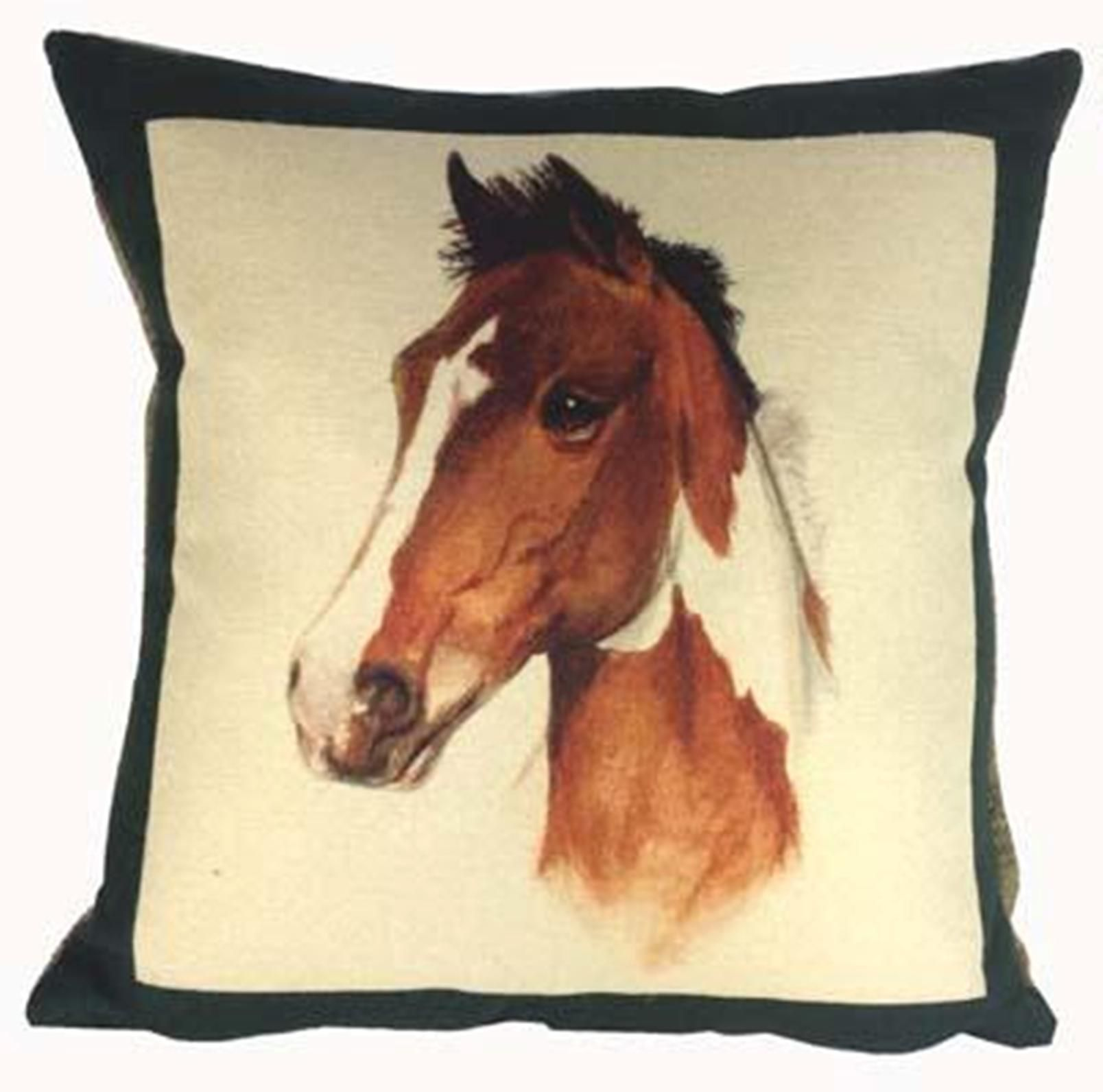 Cushion Horse Bottle Green