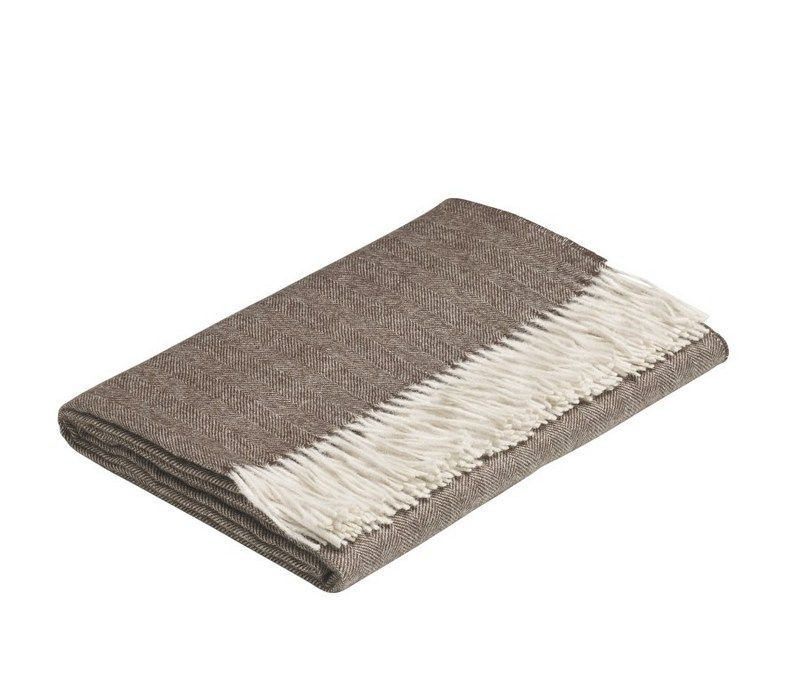 Pampeano Duna Baby Alpaca Throw - Brown and White